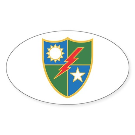 75th Ranger Crest Oval Sticker