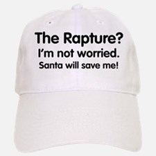 The Rapture vs. Santa Baseball Baseball Cap
