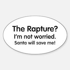 The Rapture vs. Santa Oval Decal