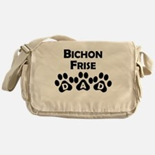 Bichon Frise Dad Messenger Bag