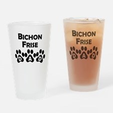 Bichon Frise Dad Drinking Glass