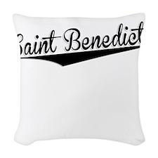 Saint Benedict, Retro, Woven Throw Pillow