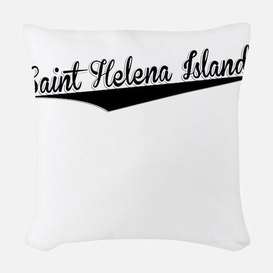 Saint Helena Island, Retro, Woven Throw Pillow