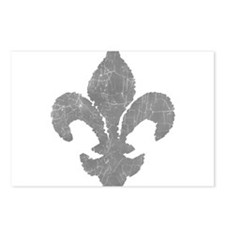 Stone fleur de lis Postcards (Package of 8)