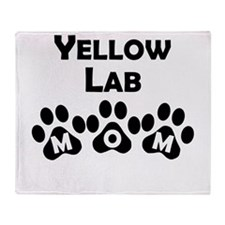 Yellow Lab Mom Throw Blanket