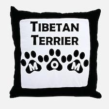 Tibetan Terrier Mom Throw Pillow