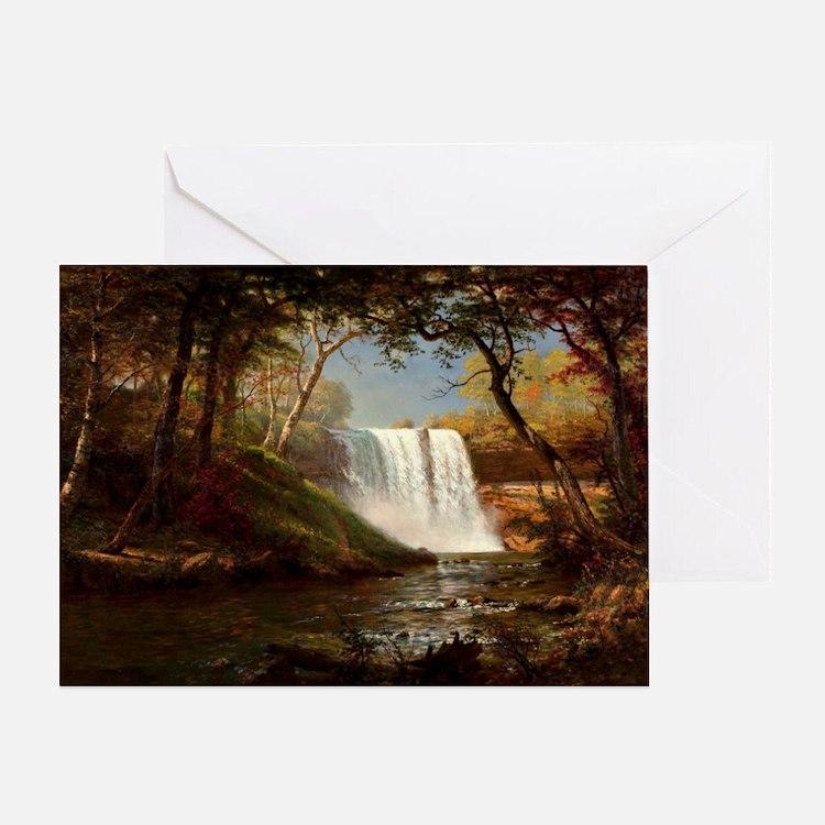 Minnehaha Falls, painting by Albert  Greeting Card