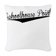 Schoolhouse Point, Retro, Woven Throw Pillow