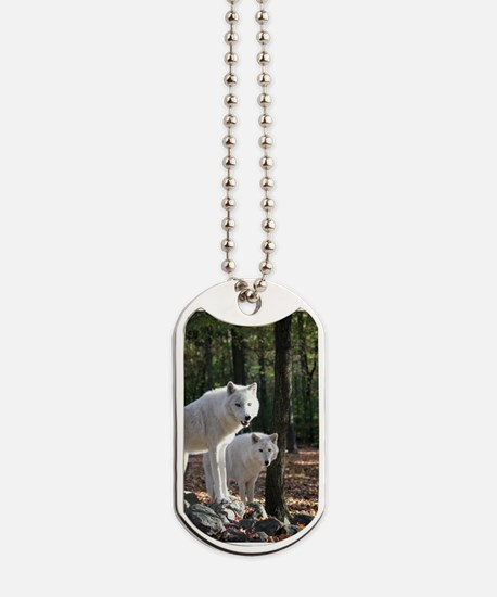 White Wolves Dog Tags