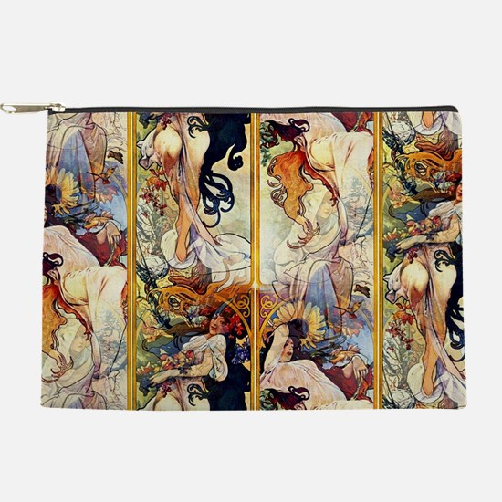 Alfons Mucha 1895 The Four Seasons Makeup Pouch