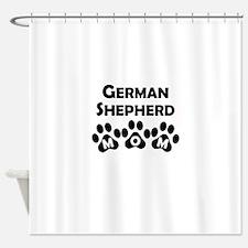 German Shepherd Mom Shower Curtain