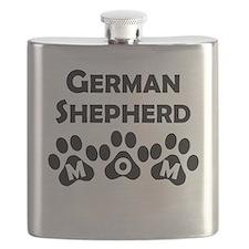 German Shepherd Mom Flask