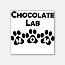 Chocolate Lab Mom Sticker
