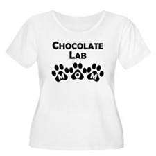 Chocolate Lab Mom Plus Size T-Shirt