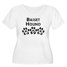 Basset Hound Mom Plus Size T-Shirt