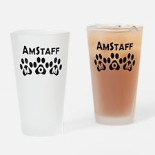 AmStaff Mom Drinking Glass