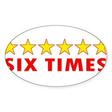 LFC Six Times Oval Decal