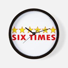 LFC Six Times Wall Clock