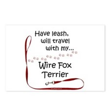 Wire Fox Travel Leash Postcards (Package of 8)