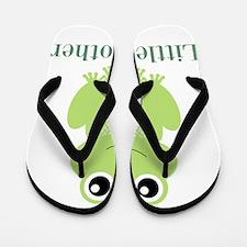 Little Brother Green Frog Flip Flops