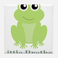 Little Brother Green Frog Tile Coaster