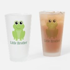 Little Brother Green Frog Drinking Glass