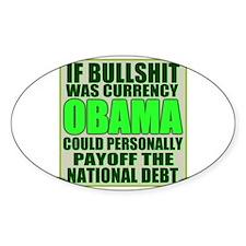 Cute Funny obama sucks Decal