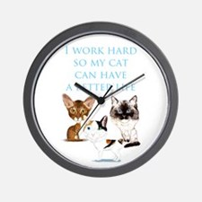 I Work Hard Wall Clock