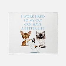 I Work Hard Throw Blanket