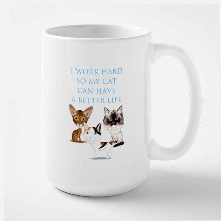 I work hard Mugs