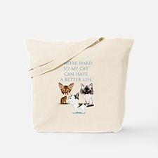 I Work Hard Tote Bag