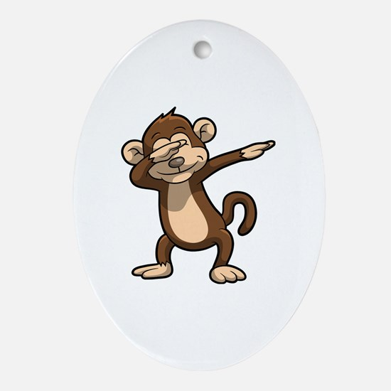 Cute Monkey humor Oval Ornament