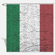 Italian Flag slaterock graphic Shower Curtain