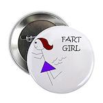 """FART GIRL GAG HUMOR 2.25"""" Button (10 pack)"""