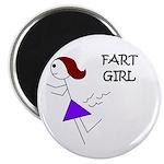 FART GIRL GAG HUMOR Magnet