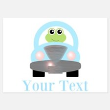 Personalizable Frog Driving Car Invitations