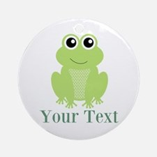 Personalizable Green Frog Ornament (Round)