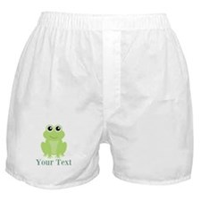 Personalizable Green Frog Boxer Shorts