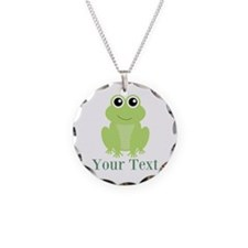 Personalizable Green Frog Necklace