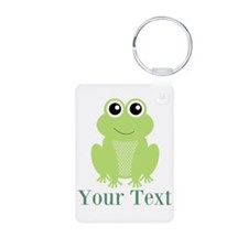 Personalizable Green Frog Keychains