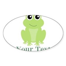 Personalizable Green Frog Decal