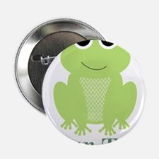"Personalizable Green Frog 2.25"" Button (10 pack)"
