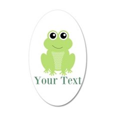 Personalizable Green Frog Wall Decal