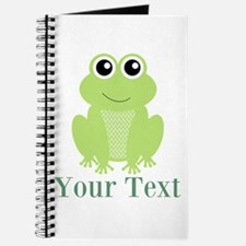 Personalizable Green Frog Journal