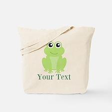 Personalizable Green Frog Tote Bag