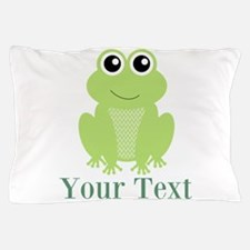 Personalizable Green Frog Pillow Case