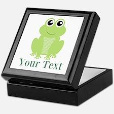 Personalizable Green Frog Keepsake Box