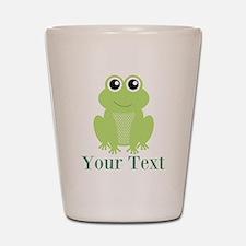 Personalizable Green Frog Shot Glass