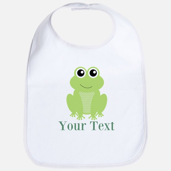 Personalizable Green Frog Bib