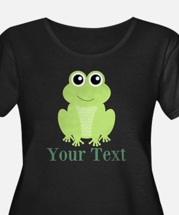 Personalizable Green Frog Plus Size T-Shirt